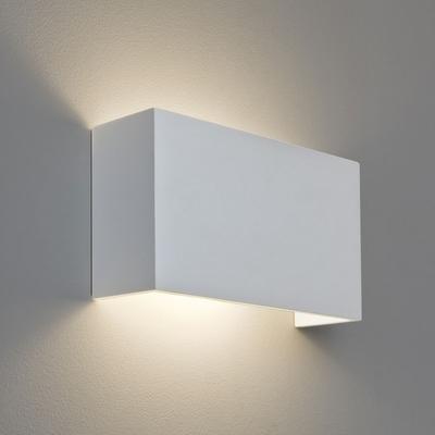 Horizontal Rectangle White Plaster Wall Light Imperial
