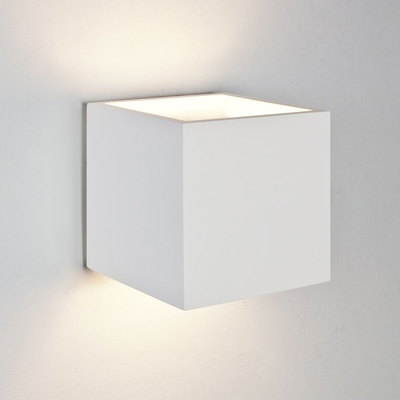 Box White Plaster Wall Light (Large)
