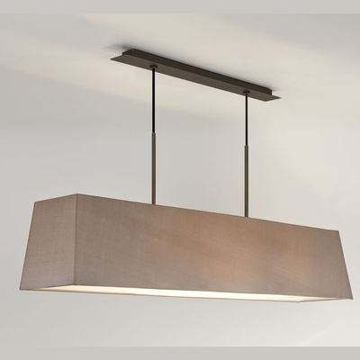 Tapered Rectangle Bronze Bar Pendant