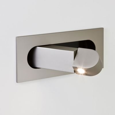 Handle Matt Nickel LED Wall Light