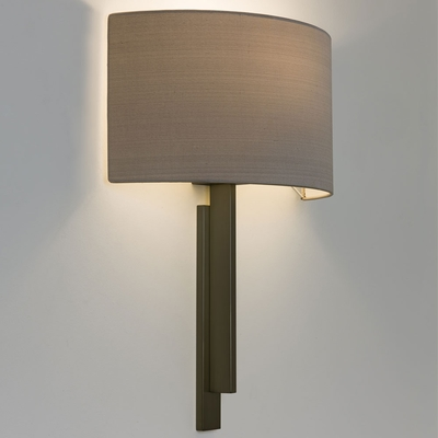 Step Bronze Wall Light with Semicircular Shade
