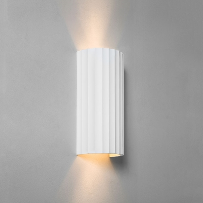 Groove White Plaster Curved Wall Light (Large)