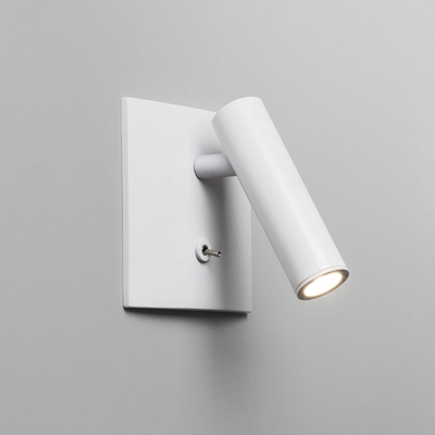 Enna Square Spotlight White LED Wall Light