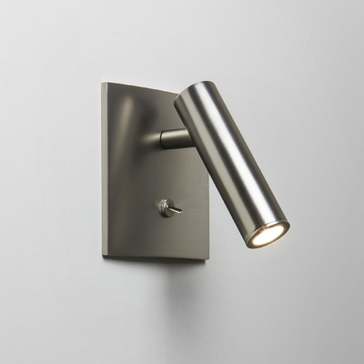Spotlight Square Matt Nickel LED Wall Light
