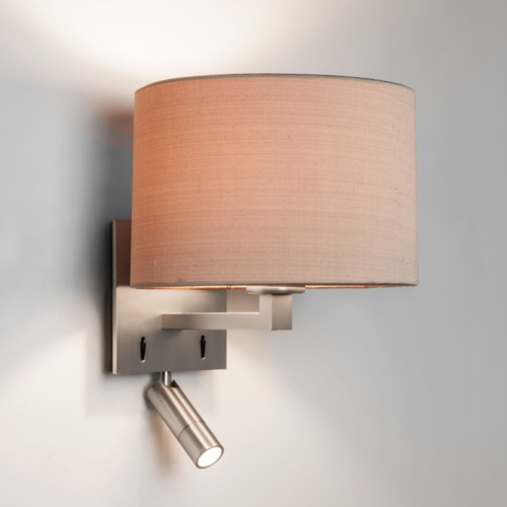 Square dual wall light Matt Nickel