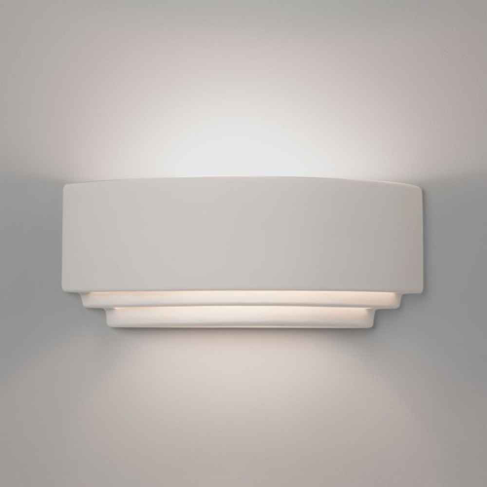 Ceramic Tiered Uplighter Wall Light Modest
