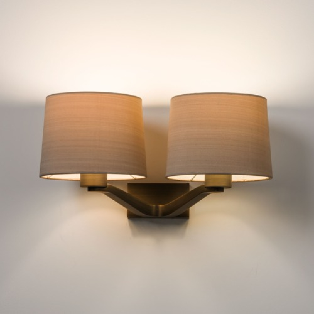 Square Annabelle wall light Twin Dark Bronze - Imperial Lighting