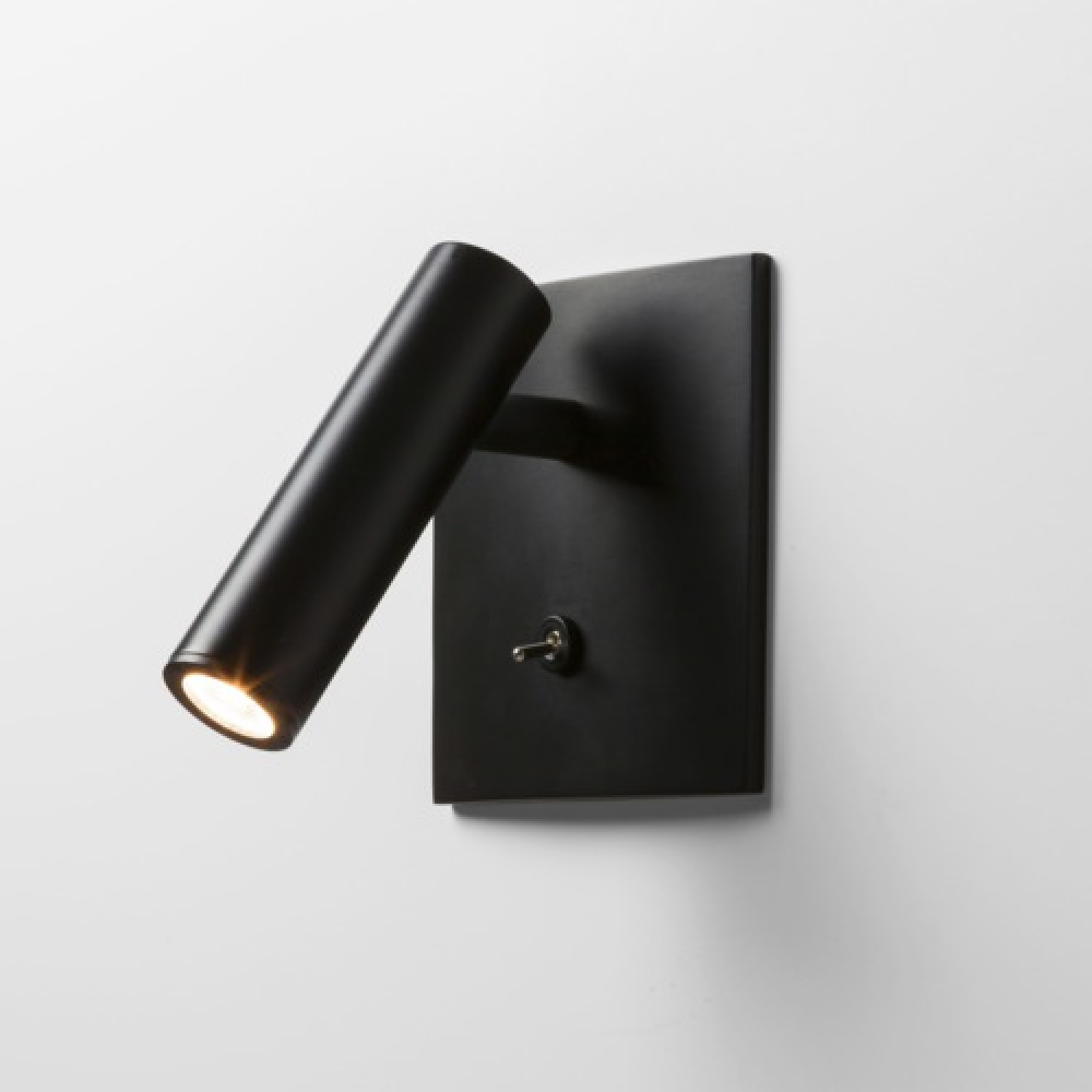 Enna Square Switched Black LED Spotlight