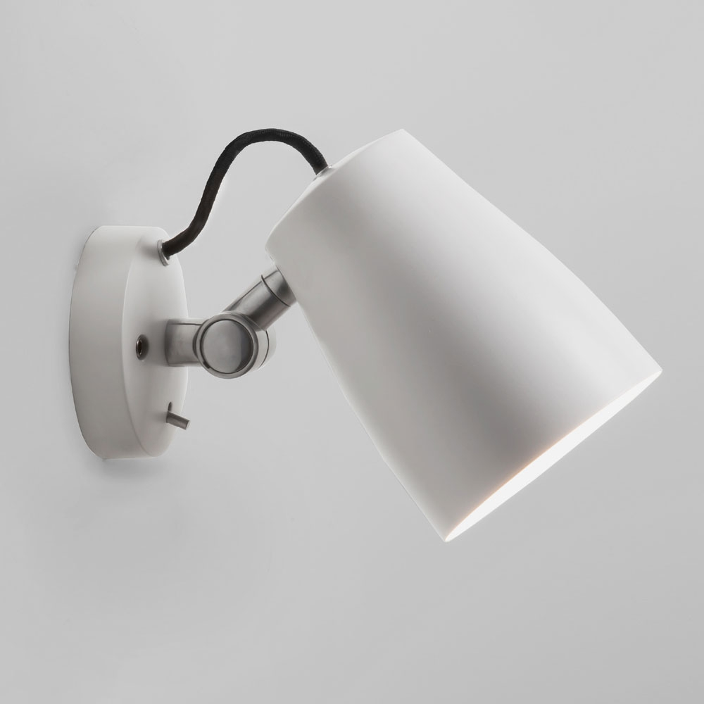 Luxo Spotlight Wall Light White