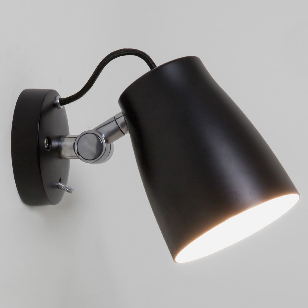 Luxo Spotlight Wall Light Black