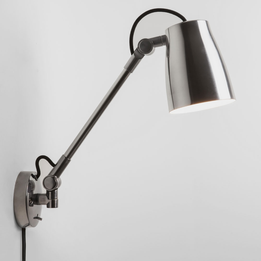 Luxo Spotlight Wall Light Polished Aluminium