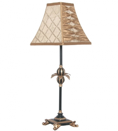 Candle Stick Table Lamp Athena Black Gold Imperial Lighting