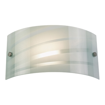 Curved White Glass Wall Light