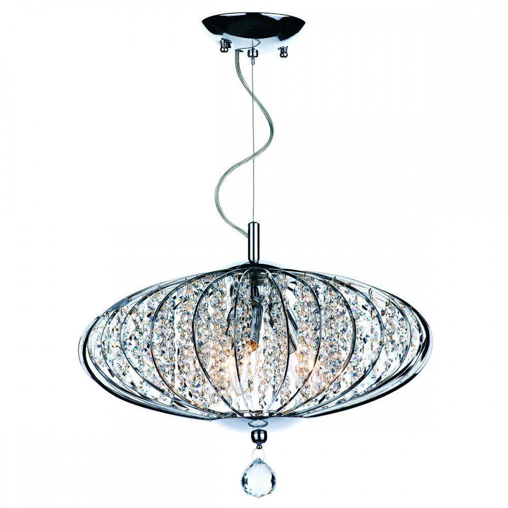 Adriatic 3 Light Crystal Pendant