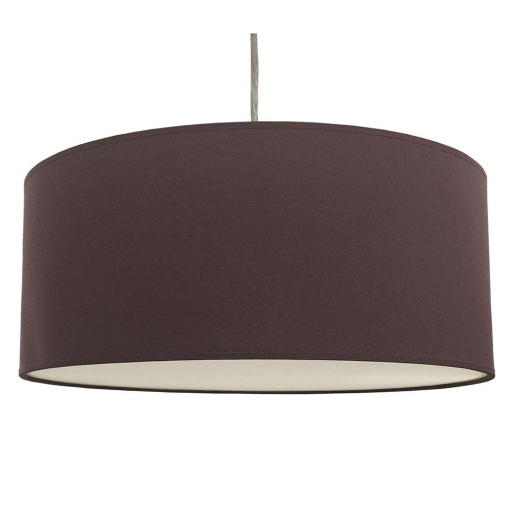 home modern lamp shades drum pendant shade aubergine. Black Bedroom Furniture Sets. Home Design Ideas