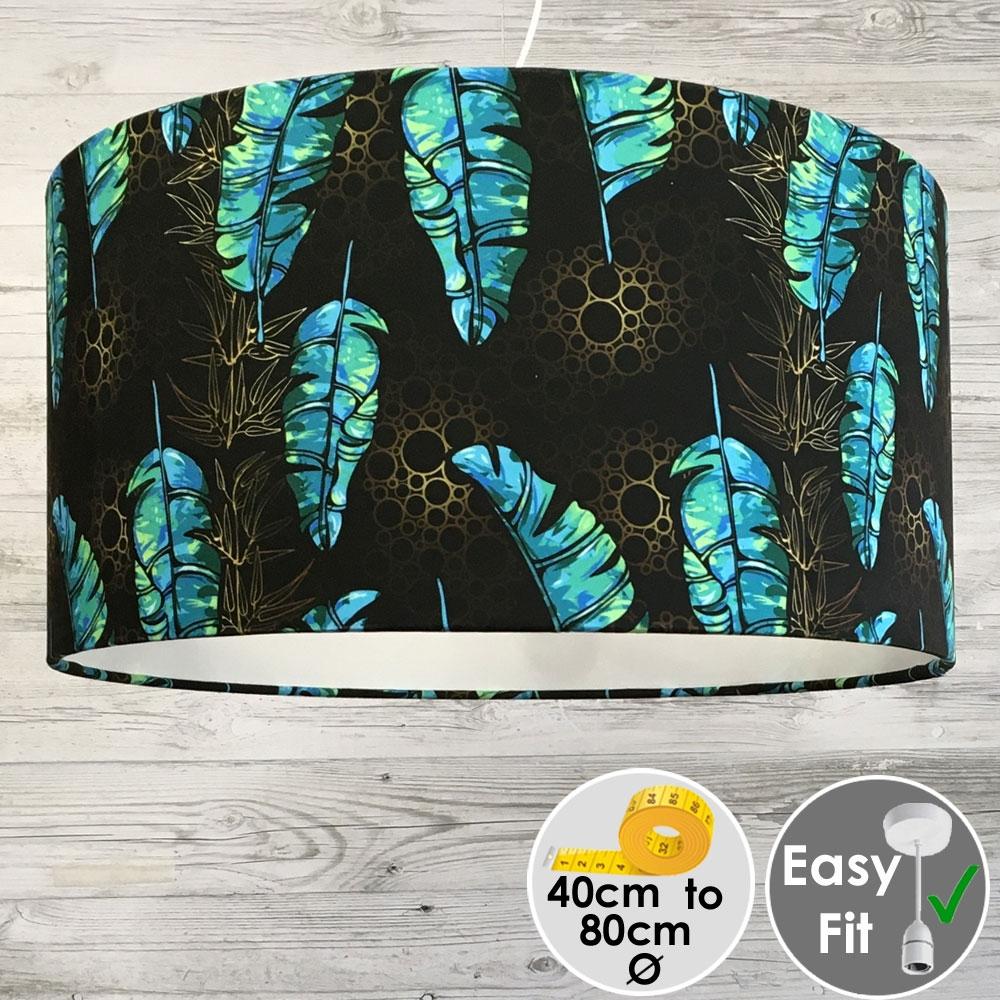 Acid Leaf Printed Lampshade