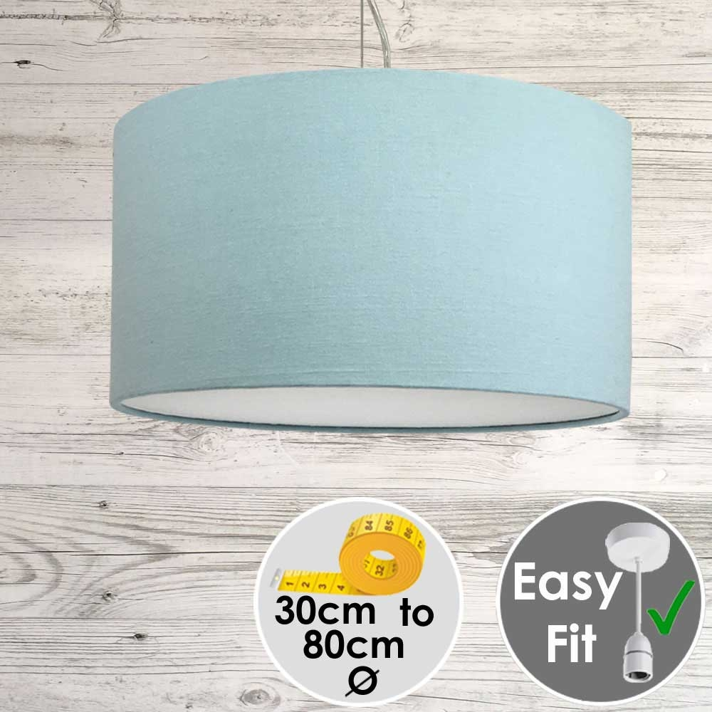 Aura Drum Pendant Light Blue