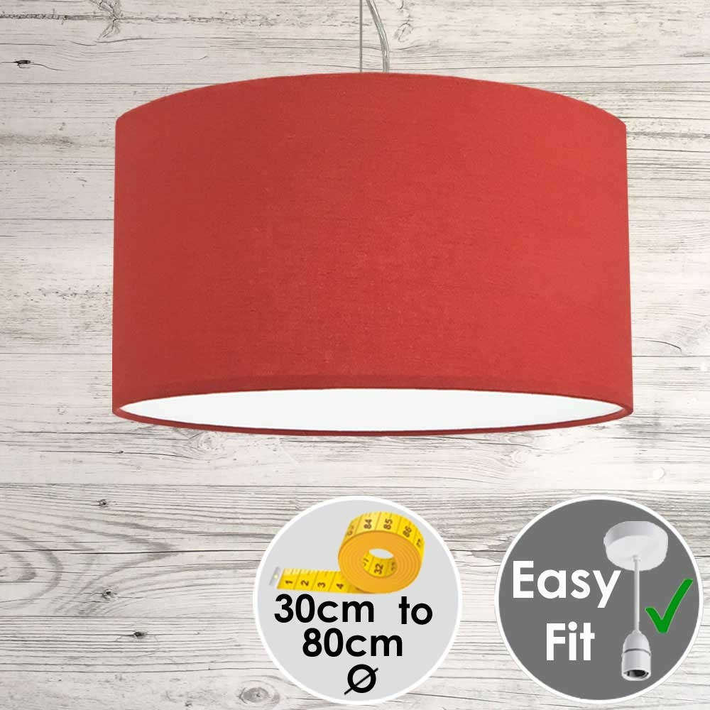 Aura Drum Pendant Red