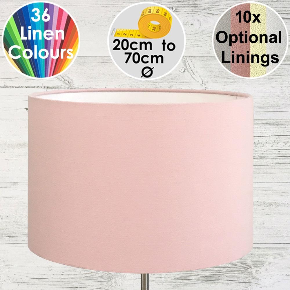 Aura Baby Pink Drum Lampshade