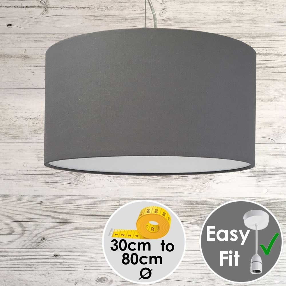 Aura Drum Pendant Grey