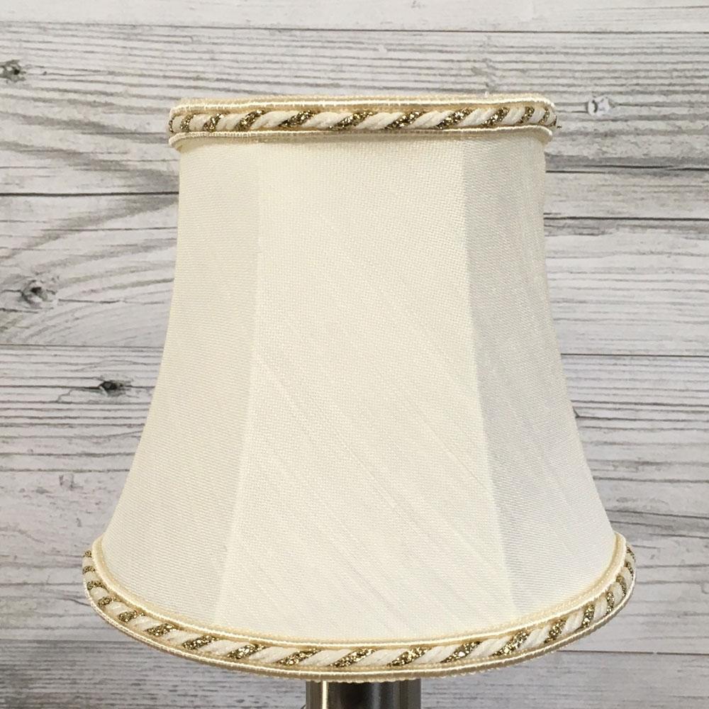 Bowed Empire Candle Shade Cream