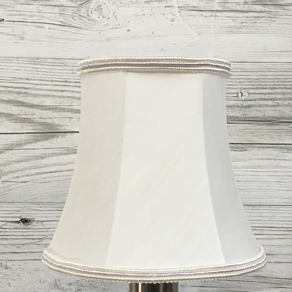 Bowed Empire Candle Shade White