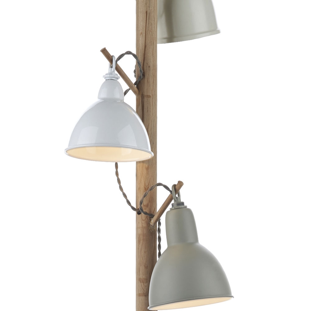 Blyton Cream Wood Floor Lamp Imperial Lighting