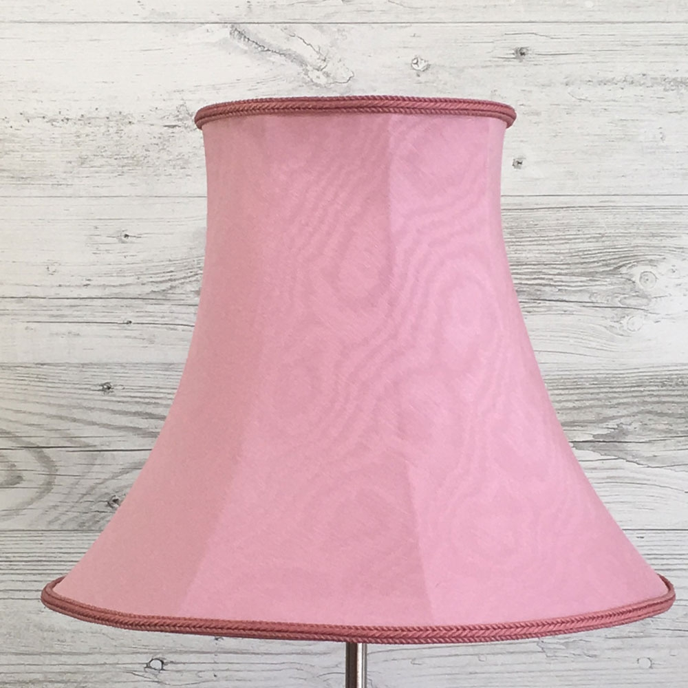 Bowed Oval Lampshade Pink Moire