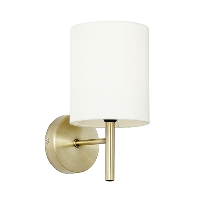 Brio Wall Light in Antique Brass with Cream Shade
