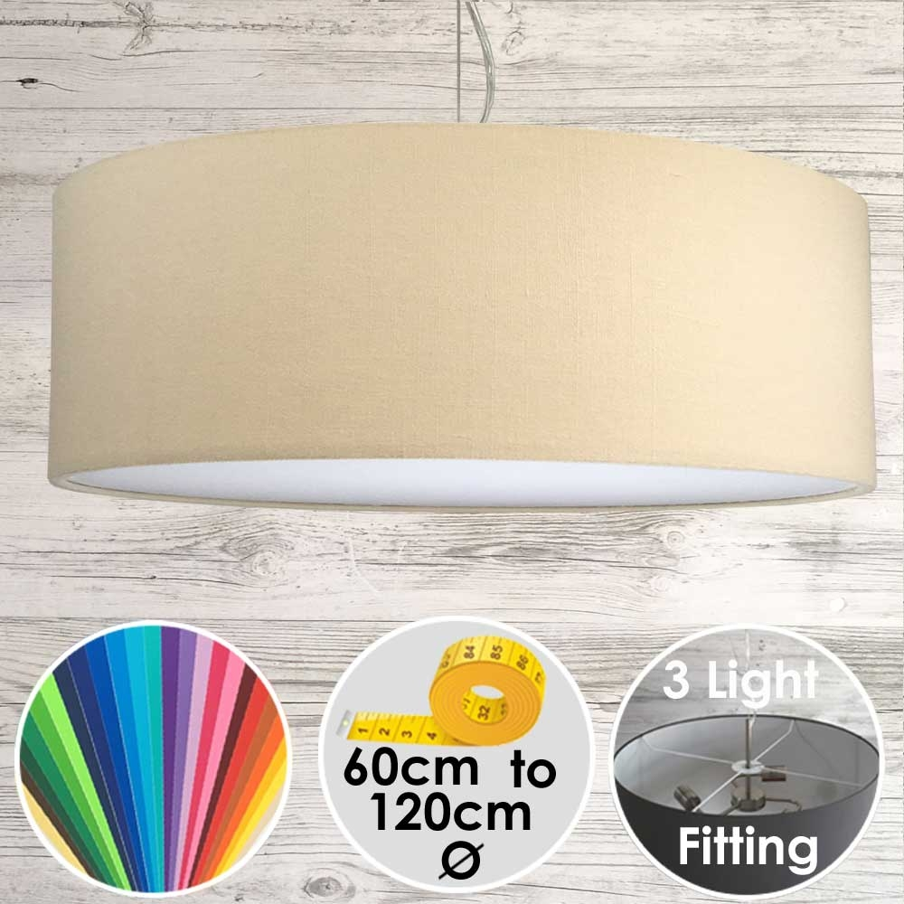 Cara XL Drum Ceiling Light Beige