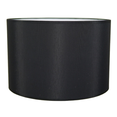 Drum Table Lampshade Black Cotton
