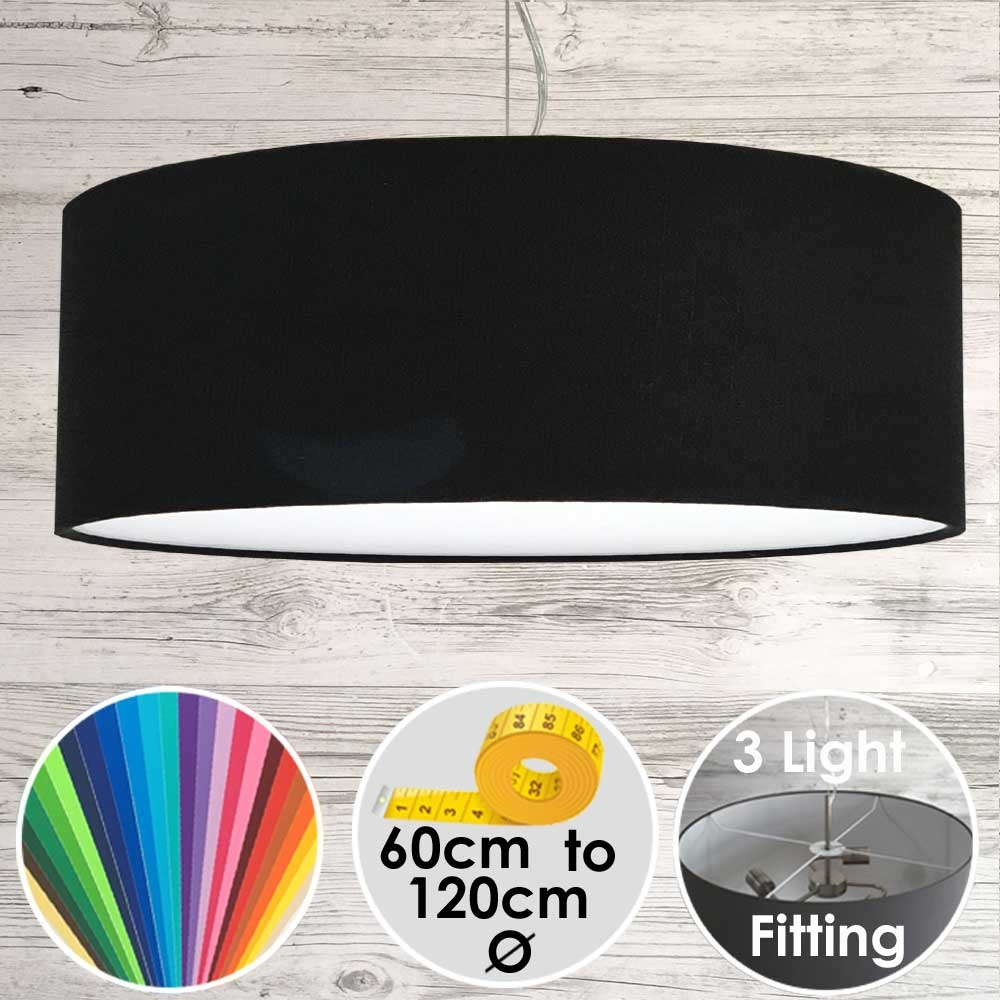 Cara XL Drum Ceiling Light Black