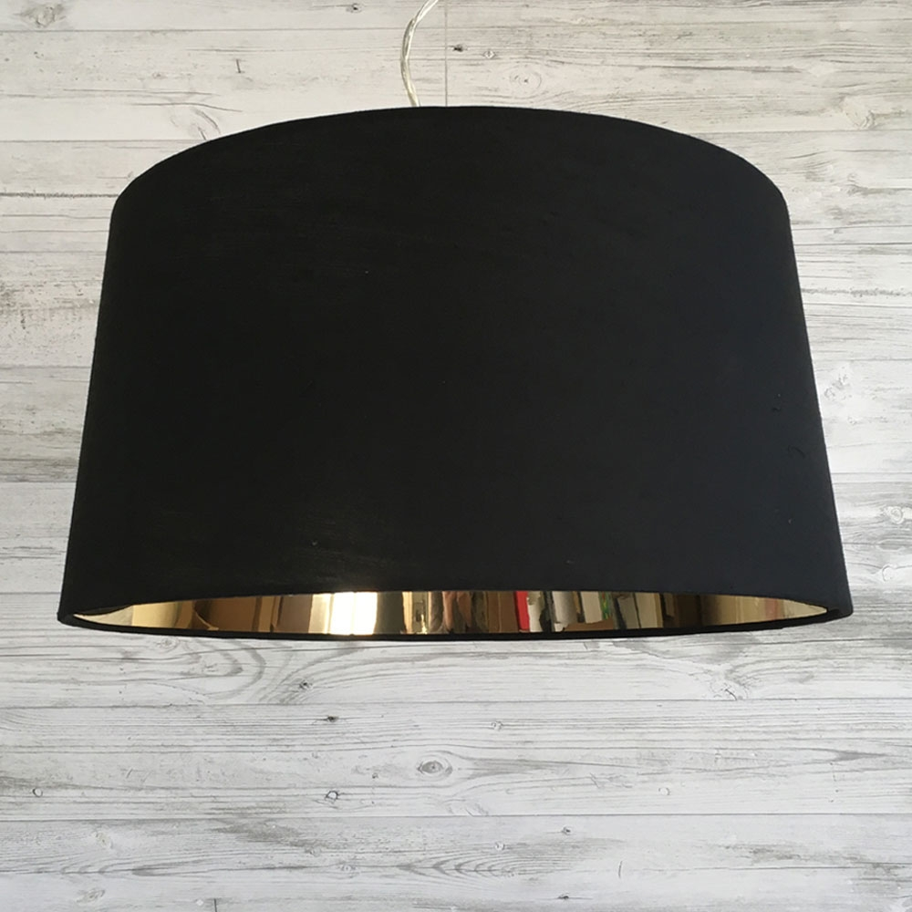 Large F. Drum Black and Mirror Gold