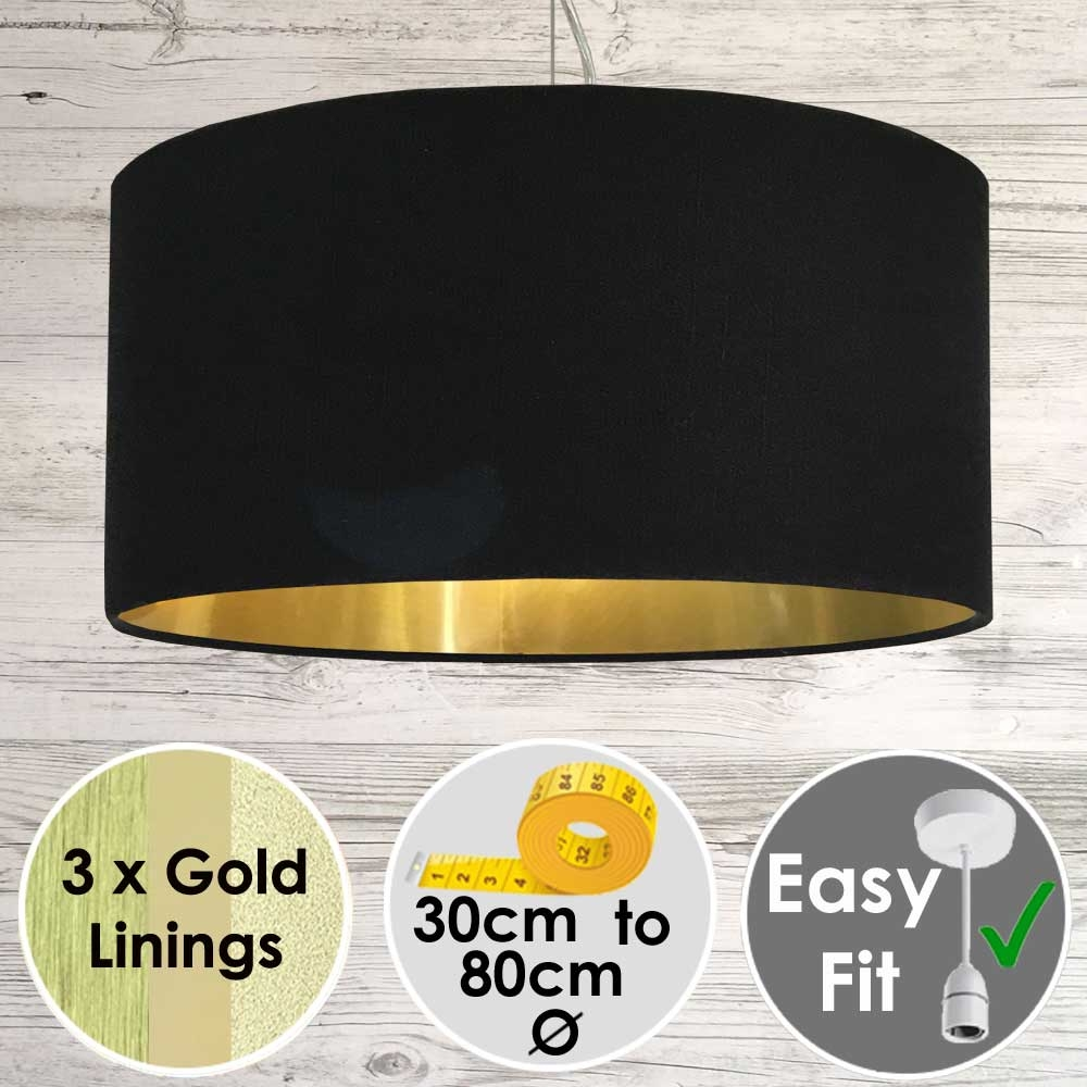 Black and Gold Light Shade