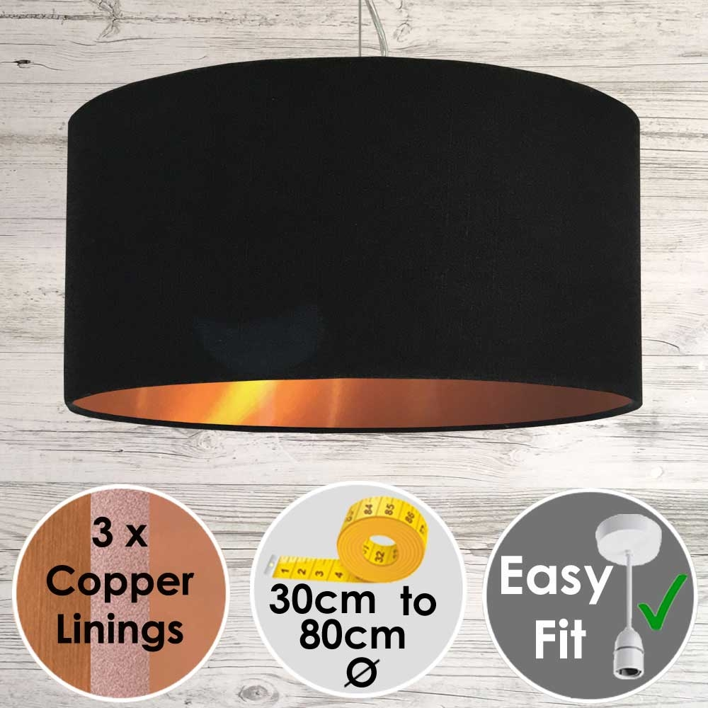 Black and Copper Light Shade