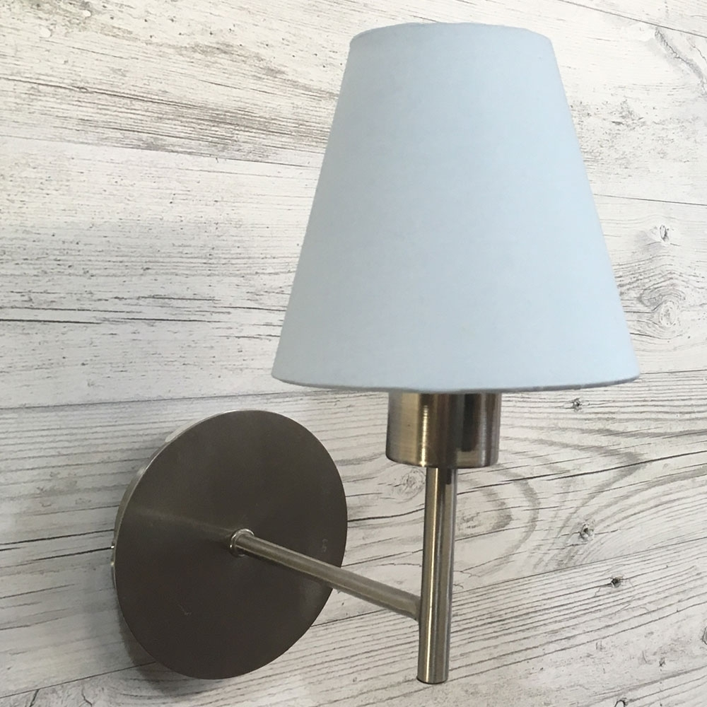 Blue Clip on Lampshade