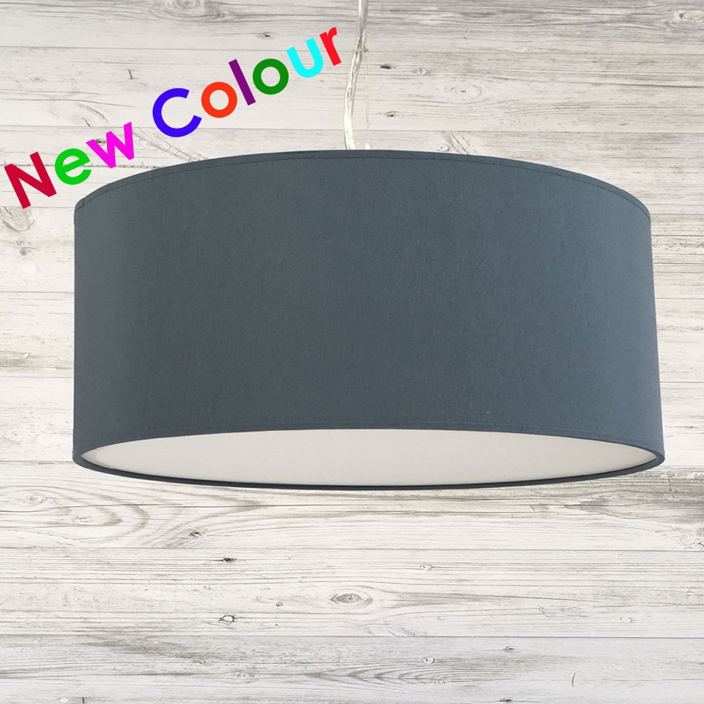 Ceiling lamp shades 1 of 8 imperial lighting imperial lighting drum ceiling shade blue grey aloadofball Image collections