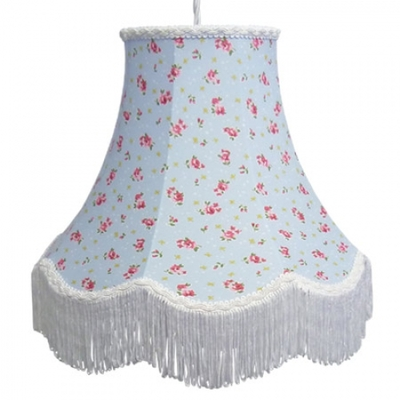 Floral Print Lampshade Blue rose