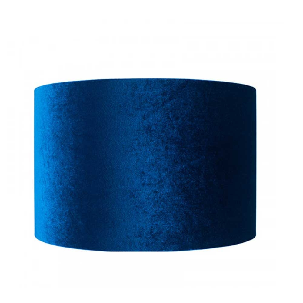 Velvet Drum Shade Blue