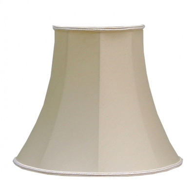 Bowed Empire Lampshade Antique Cream Dupion