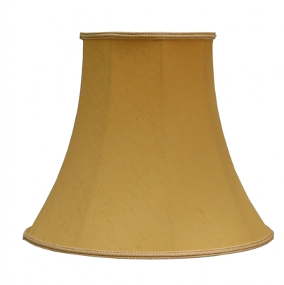 "Bowed Empire 5.5"" Candle Shade Gold Dupion"