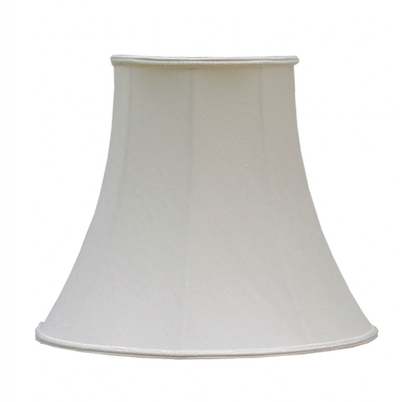 "Bowed Empire 5.5"" Candle Shade Natural Dupion"