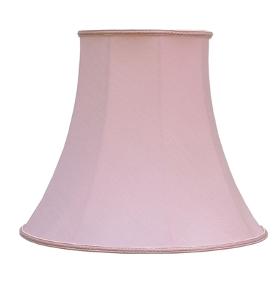 Bowed Empire Lampshade Pink Dupion
