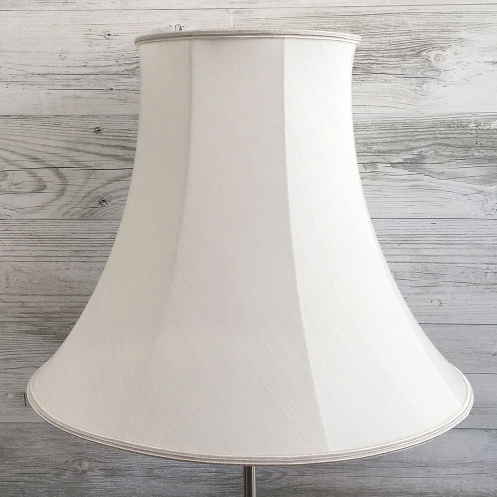 Bowed Empire Lampshade Natural Dupion