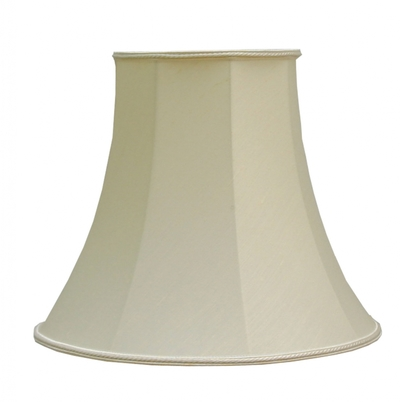 "Bowed Empire 5.5"" Candle Shade Cream Dupion"