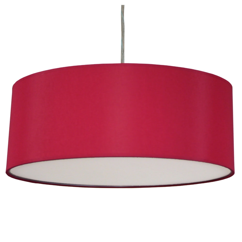 Thin xl drum 3lt brick red imperial lighting for Wide drum lamp shade