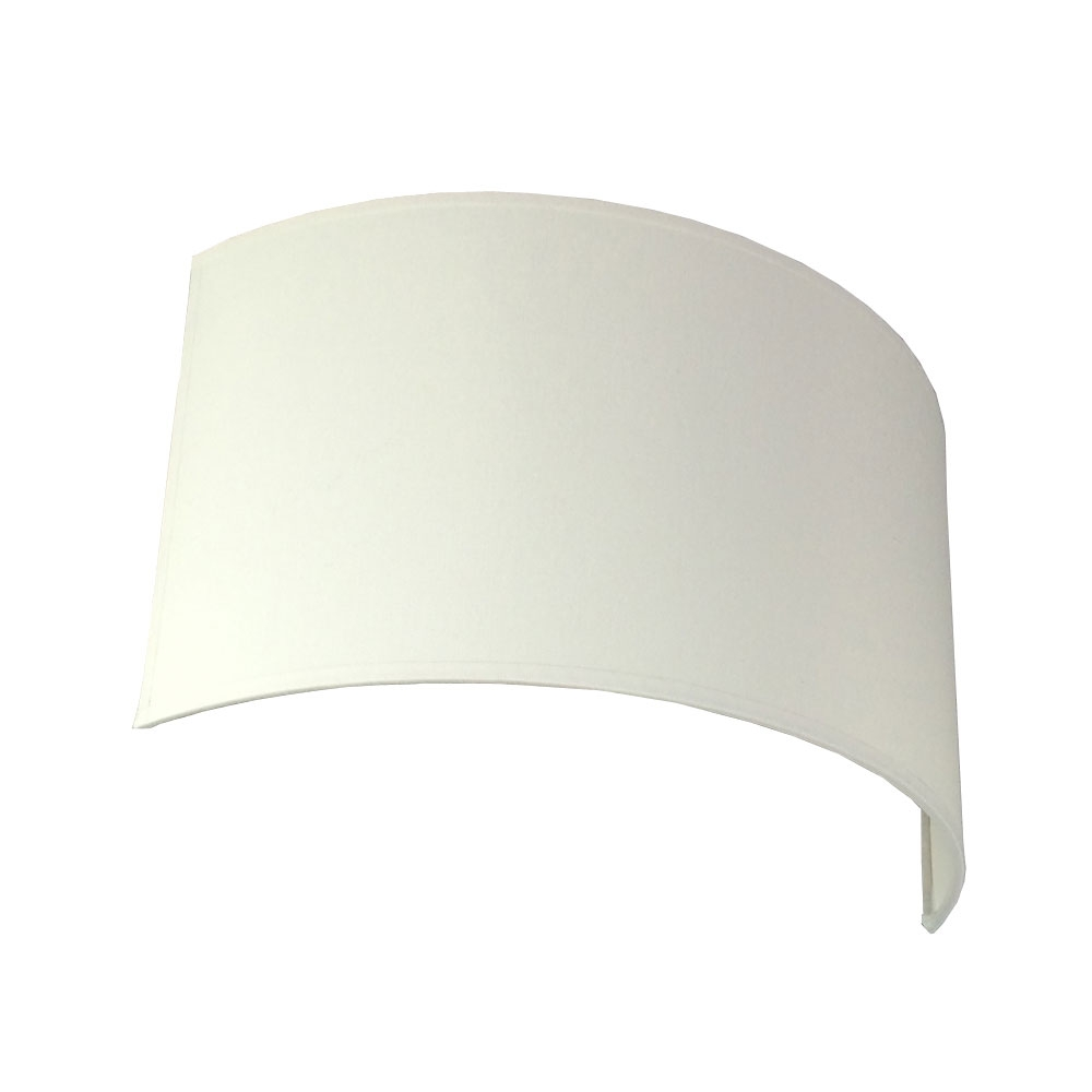 FLOATING WHITE CRESENT WALL LIGHT