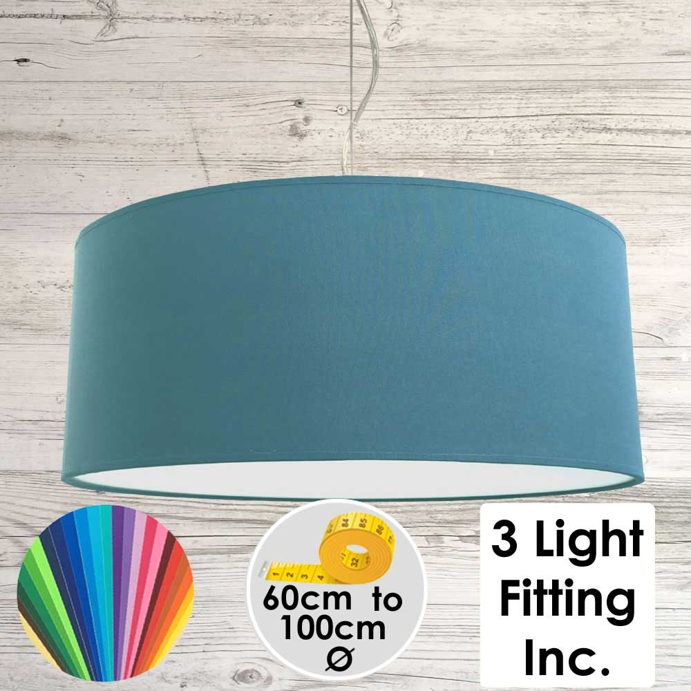 Cadet Blue Drum Ceiling Light