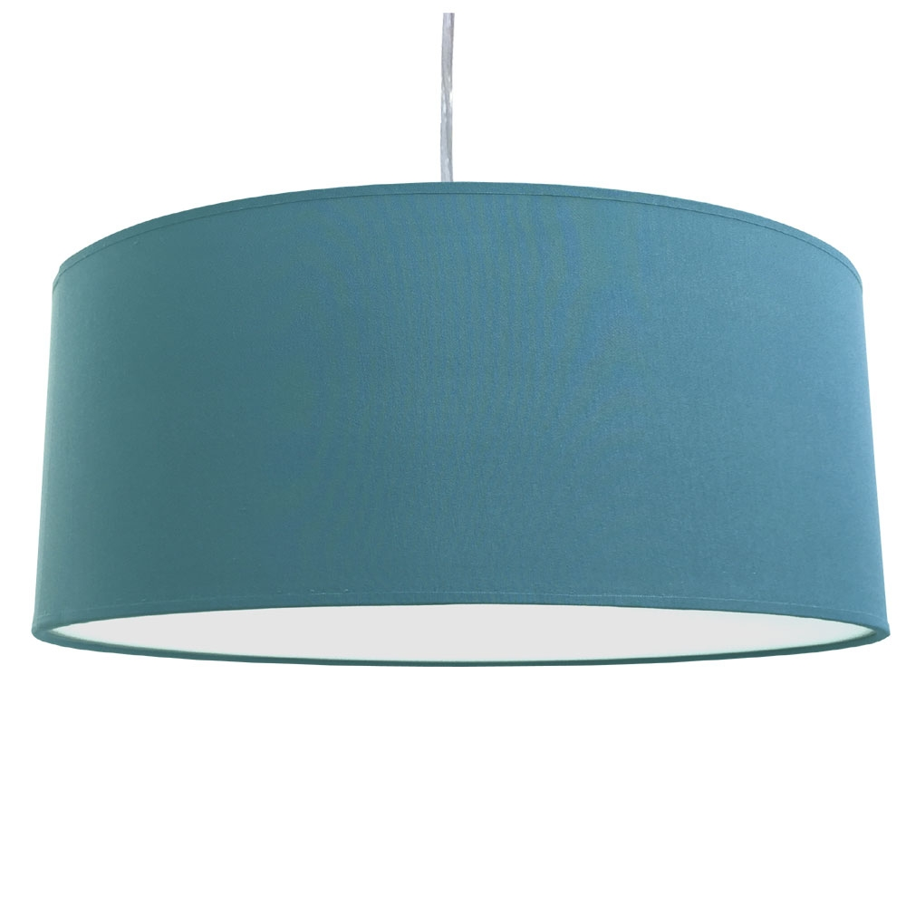home modern lamp shades xl drum shade and suspension cadet blue. Black Bedroom Furniture Sets. Home Design Ideas
