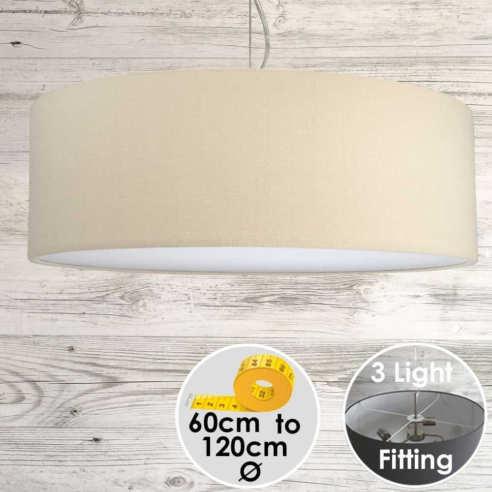 Cara Large Beige Drum Lampshade